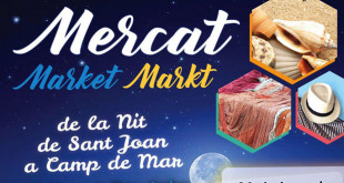Sant Joan Vorabend Markt in Camp de Mar